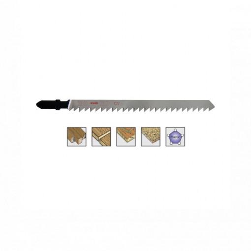 Set 5 panze pentru fierastrau pendular, dantura rectificata, HCS - 8024 - RUKO