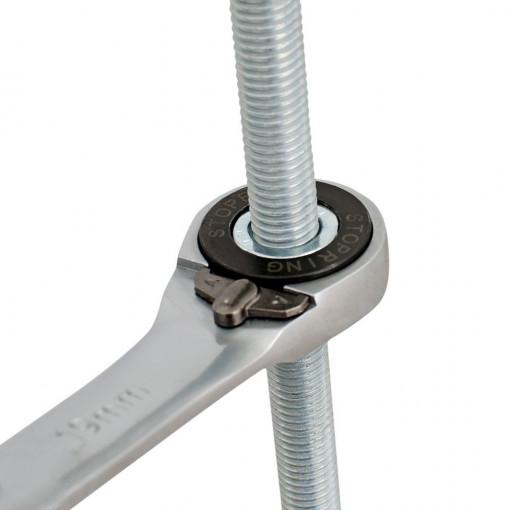 Set de chei combinate cu clichet varianta forjata in cutie carton - 160/2CB