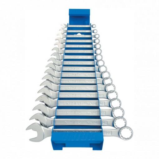 Set de chei combinate scurte cu suport metalic - 125/1MS