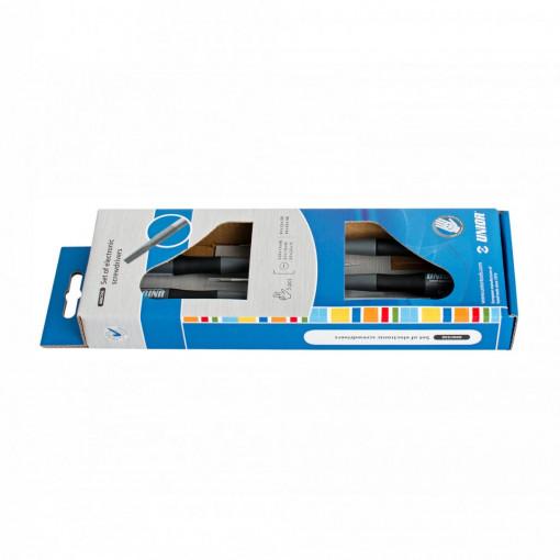 Set de surubelnite pentru electronisti in cutie de carton - 606CS5E - UNIOR