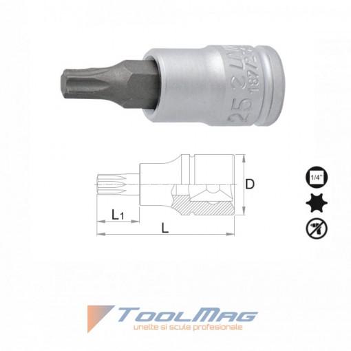 """Capete chei tubulare cu cap profil TX exterior 1/4"""" - 187/2TX"""