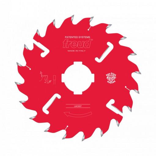 Panza circulara placata CMS cu dinti geluitori pentru taieri multiple in lung de fibra a lemnului LM06 - FREUD