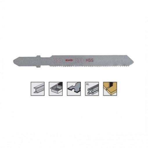 Set 5 panze pentru fierastrau pendular, dantura ondulata, HSS-Otel - 8010 - RUKO