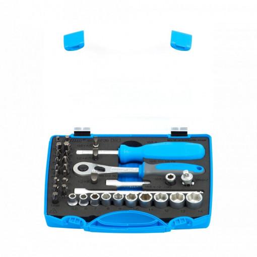 "Set de capete chei tubulare si biti 1/4"" in cutie de plastic - 188BI6P36 - Unior"