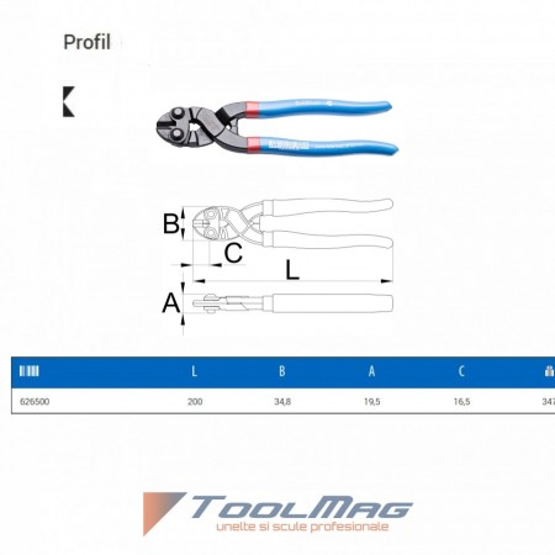 Cleste cu tais lateral BoltShark - 469SHARK/4DP - Unior desen