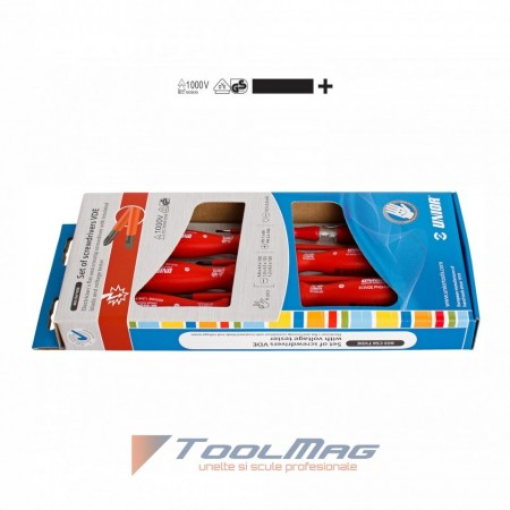 Set de surubelnite VDE cu tester de tensiune - 603CS6TVDE