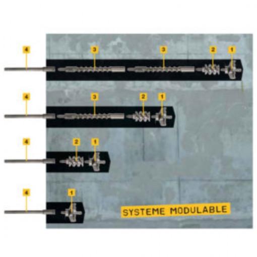 Sistem modular pentru gauri in beton mai mari de 1 m