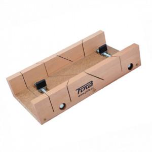 Cutie sablon din lemn cu 2 suruburi de reglaj pentru taiere la 45°/90° - 28-300653819