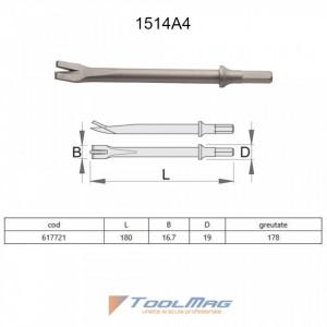 Dalta pentru taiat tabla cu pistolul pneumatic percutor - 1514A4