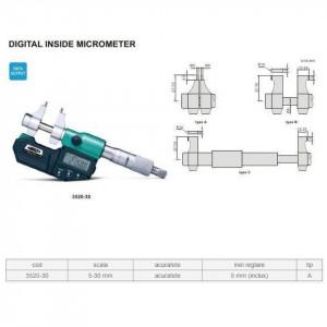 Micrometru digital de interior 5-30 mm - 3520-30