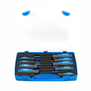 Set de surubelnite TBI cu profil plat, PH si PZ in cutie de plastic - 607PB9TBI - Unior