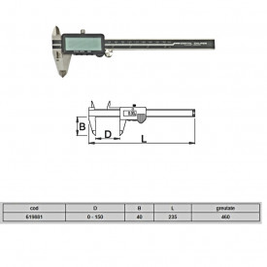 Subler electronic - 270A - Unior detalii