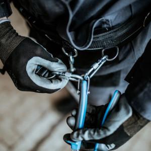 Cleste tais lateral pentru conditii grele cu inel pentru carabiniera - 466/1BI-H