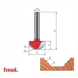 Freza cilindro frontala profilata complex, placata CMS, Z2, cu coada - 39-