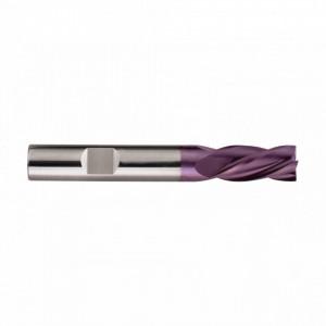 Freza HSS Co8 TiAIN, Tip N, DIN 327 D, scurta, prindere cilindrica conform DIN 1835 B, punct de centrare, 2 taisuri