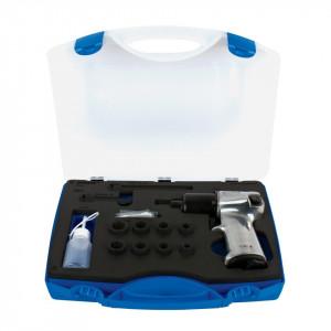 "Pistol pneumatic si set de capete chei tubulare 3/8"" in cutie plastic - 1545"
