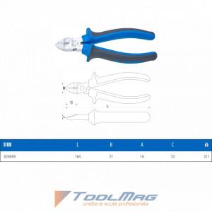 Cleste multifunctional cu taiere in diagonala - 462/1BI - Unior desen