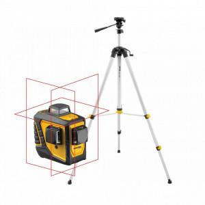 Laser în cruce multifunctional cu raza rosie (3x 360°) CL3D + trepied