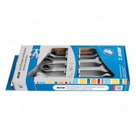 Set de chei combinate din otel forjat cu clichet in cutie de carton 160/2CS