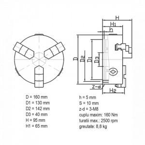 Universal de strung cu 3 bacuri - K11 160
