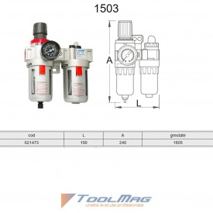 """Filtru regulator si gresor pneumatic 3/4"""" - 1503"""