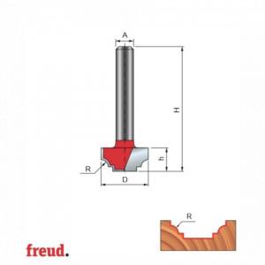 Freza cilindro frontala profilata complex, placata CMS, Z2, cu coada - 39-3