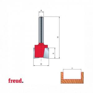 Freza cu coada, cilindrico frontala, pentru mortezat, placata CMS Z2 - 16-