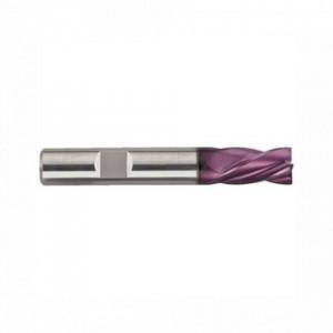 Freza HSS Co8 TiAIN, Tip N, scurta, DIN 327, prindere cilindrica conform DIN 1835 B, punct de centrare, 3 taisuri
