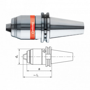 Mandrina de precizie pentru CNC, DIN 69871, cu rotatie stanga/dreapta, max 7000rpm