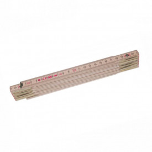 Metru lemn fag 2 m imbinari din otel si nituri vizibile, culoare natur - Perfekt 10 N