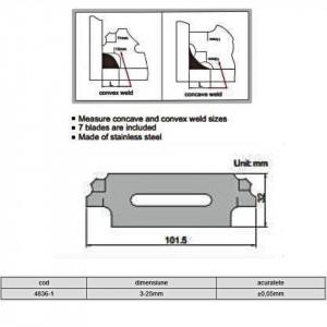 Set lere sudura 4836-1 - Insize detalii