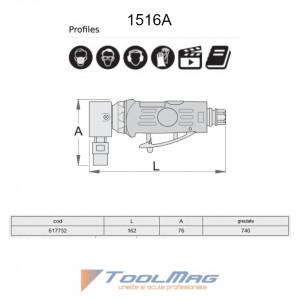 Biax pneumatic unghiular - 1516A