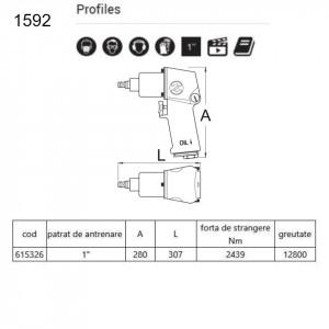 """Pistol pneumatic 1"""" - 1592"""