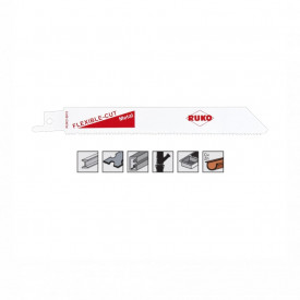Set 5 panze pentru fierastrau sabie, dinti ceaprazuiti, HSS Bimetal - 8915