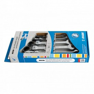 Set de chei articulate combinate din otel forjat cu clichet, in cutie de carton 161/2CS