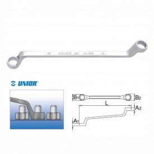 Set de chei inelare dublu cotite cu suport metalic - 180/1MS
