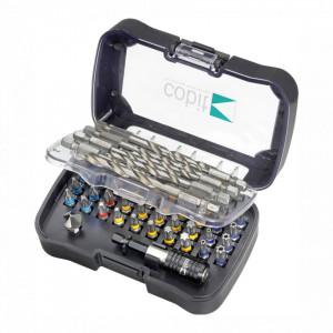 Trusa 50 biti, burghie si accesorii cu inel de identificare - 02222