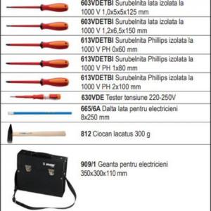 Trusa profesionala de 19 scule pentru electricieni in geanta - 1000 ak7
