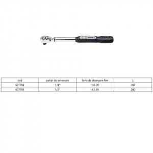 Cheie dinamometrica cu afisaj electronic 266B - Unior desen