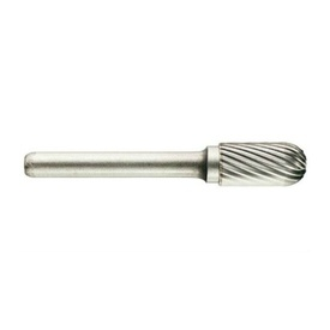 Freza din carbura de tungsten forma C - cilindrica cap rotunjit, tais simplu tip C