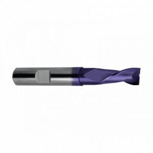 Freza din carbura TiAIN, Tip N, lunga, dinti lungi, DIN 6527L, 2 taisuri
