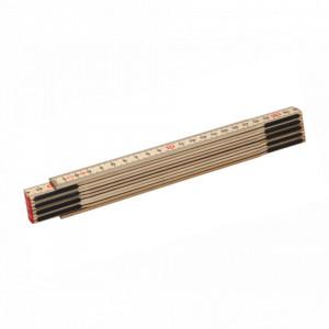 Metru lemn carpen 2 m imbinari din otel si nituri ascunse culoare natur - Slimboy HB