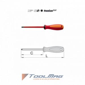 Surubelnite profil TORX® cu lama izolata la 1000 V - 621VDETBI