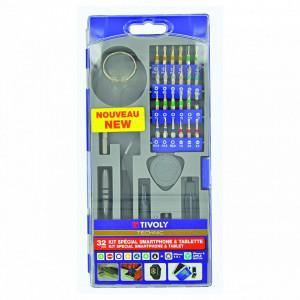 Trusa biti si accesorii pentru intretinere si reparatie Smartphone si tablete - 32 piese