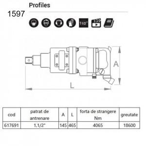 "Ciocan pneumatic 1.1/2"" - 1597"