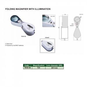 Lupa pliabila cu LED 7515-10
