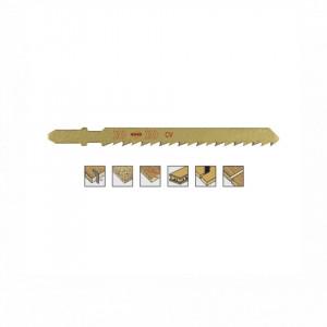 Set 5 panze pentru fierastrau pendular, dantura rectificata, HCS - 8002 - RUKO