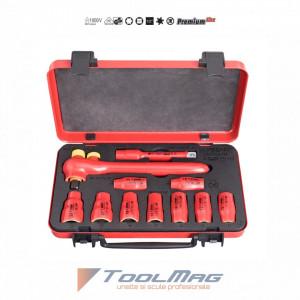 """Set capete chei tubulare 1/2"""" izolate la 1000 V in cutie metalica - 190VDE6P11A"""