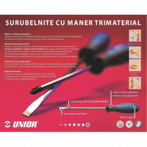 Surubelnita lata, maner trimaterial TBI, cromata - 605TBI