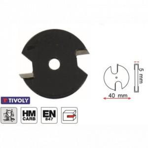 Freza disc, placata CMS, Z 2 pentru uluc 5,0 mm - XT60642067866